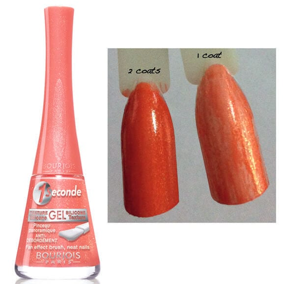 bourjois, nails, nail polish, nail paint, gel, silicone, 1 second, 1 seconde