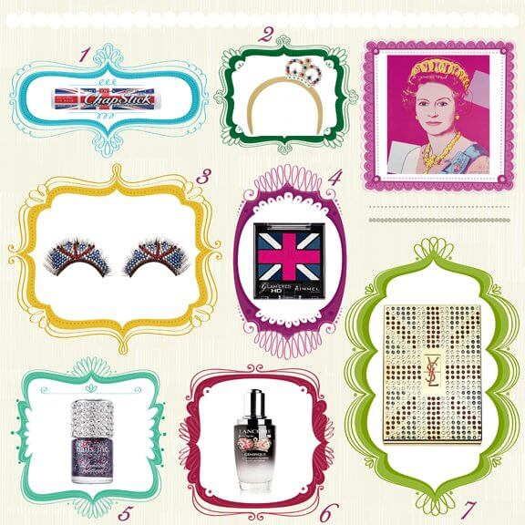 Estee Lauder, Jewelled Flag of Britain, Beautiful, perfume, fragrance, limited edition, queen, london, diamond jubilee, shu uemura, hairband, rimmel, YSL, lancome, nails inc, model's own, chapstick