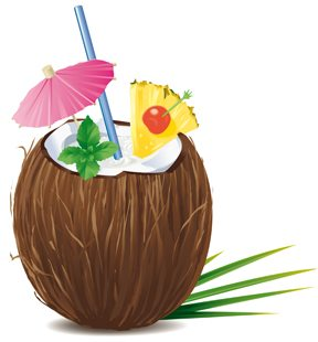 Drink up (a pina colada!) for beautiful skin