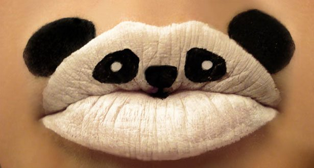 lip art, body art, body makeup, paige thompson, lips