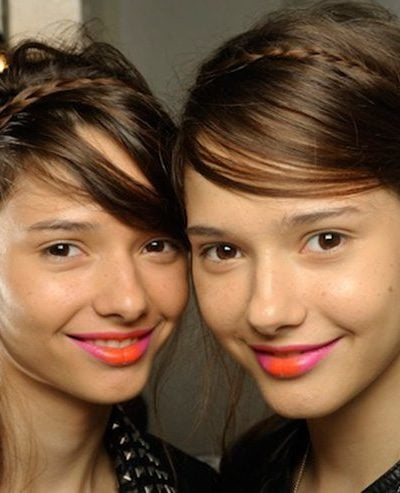 The cool new way to wear lipstick