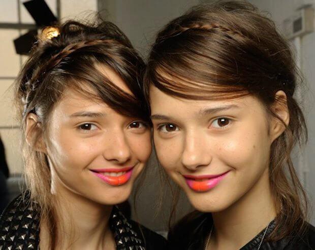 two tone lips, two tone lipstick, ombre lip, two colour lip, Hally Fulton
