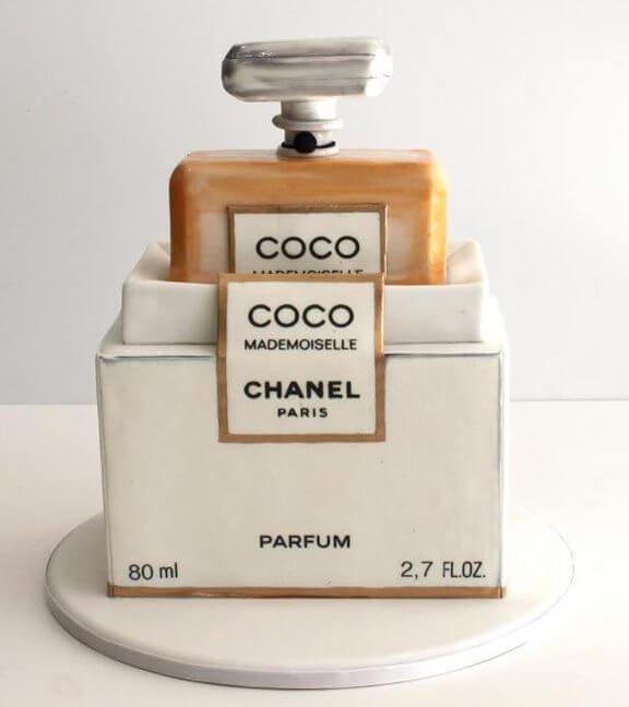 chanel perfume cake