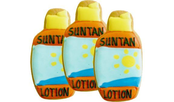 suntan beauty cookies