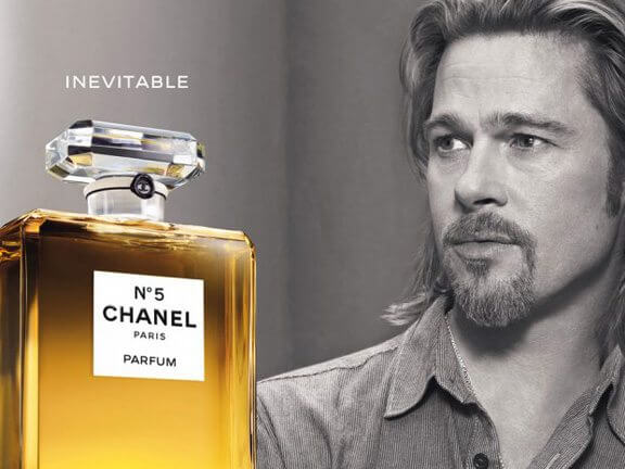 chanel, brad pitt, no. 5, second ad film