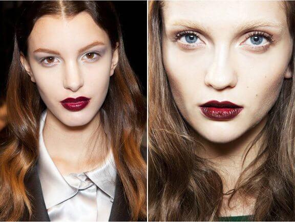 red lipstick, winter lipstick, fall lipstick, burgundy lipstick, fall winter 2012, lipstick trend