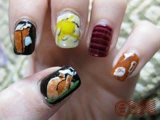 nail art, nail ideas, nail trends, nails, thanksgiving, turkey, fall day