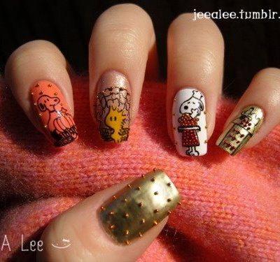 Cute & Crazy Thanksgiving Nail Art Ideas