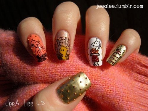Cute Crazy Thanksgiving Nail Art Ideas The Beauty Gypsy