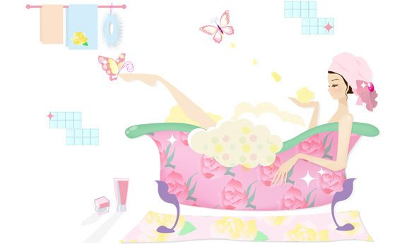 rose-relaxing-bath