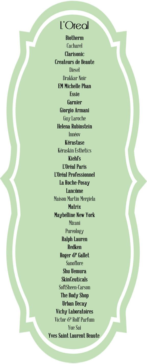 loreal beauty brands