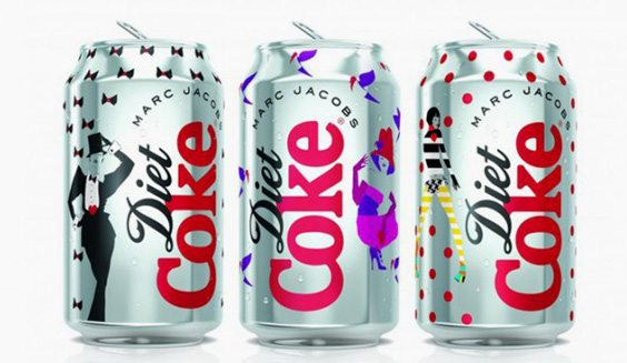 Diet Coke cans designed by Marc Jacobs