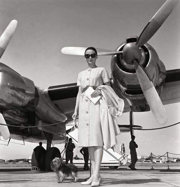 The actress departs from Rome's Ciampino Airport, June 16, 1958