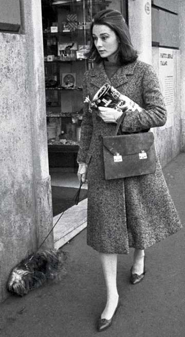 Hepburn with her beloved Yorkie, Mr. Famous
