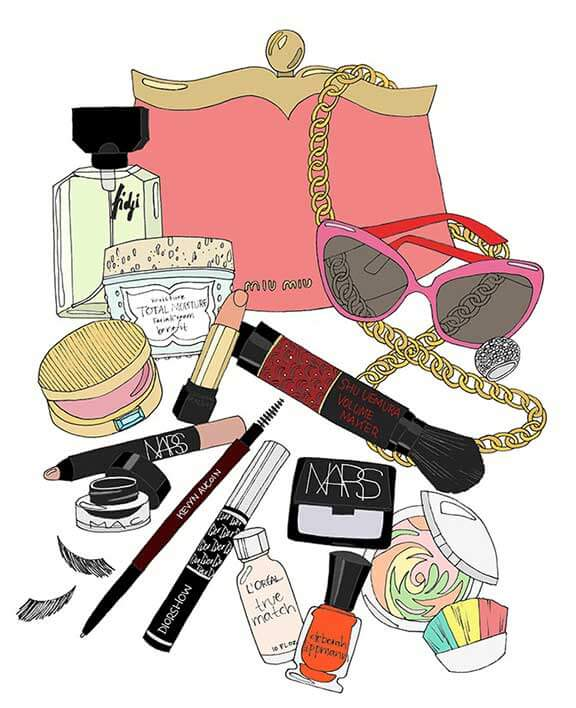 What's in Megan Draper's Makeup Bag? Illustration by Kristina Hultkrantz (www.emmakisstina.com)
