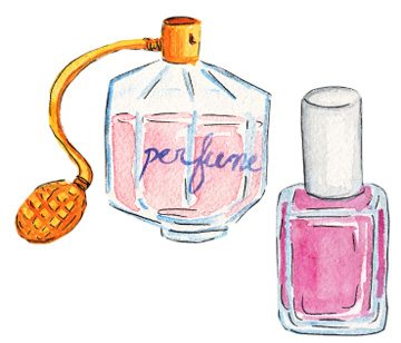 Out of nail polish remover? Use perfume