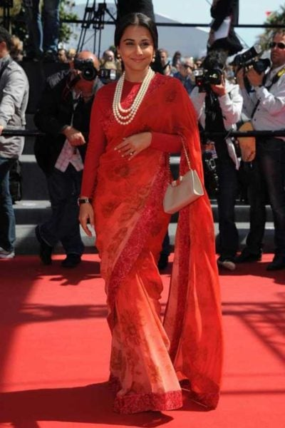Cannes 2013: Vidya Balan goes red. And red. And then more red.