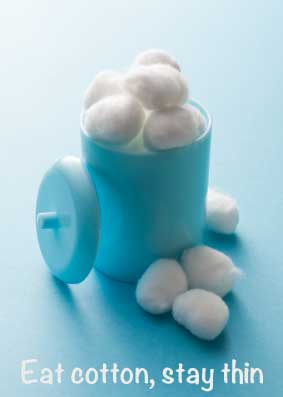 cotton ball diet
