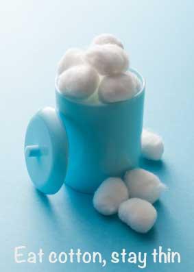 cotton ball diet