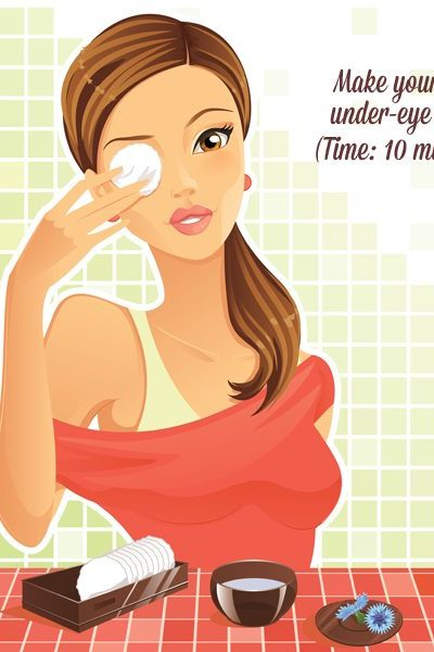 Beauty recipes: Make your own under-eye mask (Time: 10 minutes)