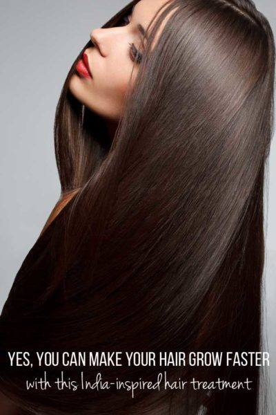 Yes, you can make your hair grow faster – with this India-inspired hair treatment