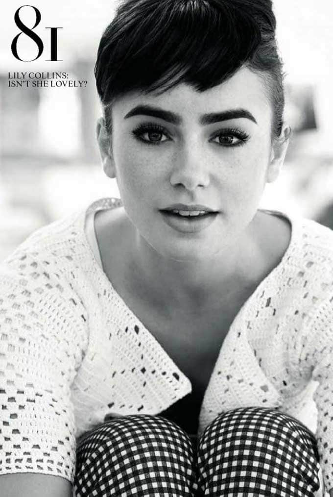 Lily Collins: Image courtesy Tatler