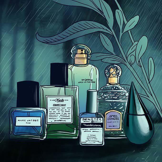 Rain perfumes