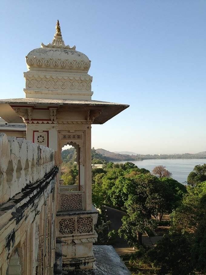 A room with a view... at the Fatehprakash palace
