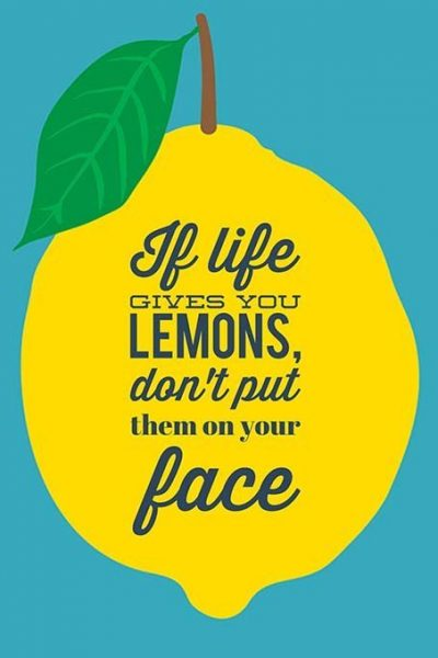 Why you should NEVER put pure lemon juice on your face. NEVER.